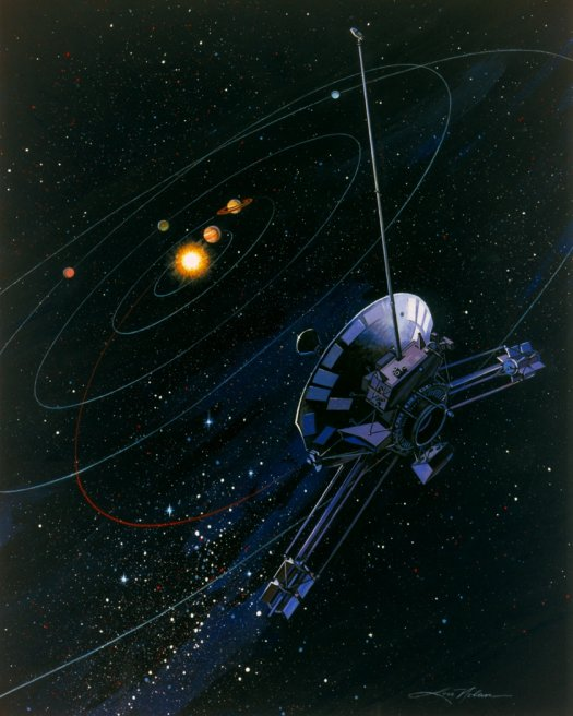 Pioneer 10 and 11 Spacecraft Logo - Pics about space