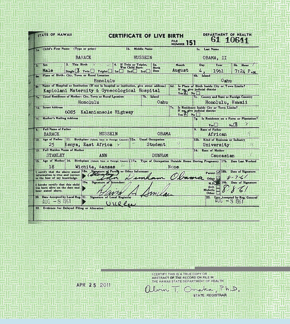 Which is the real newly released obama birth certificate a faked image aiddatafo Choice Image