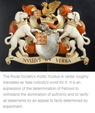 Royal Society motto