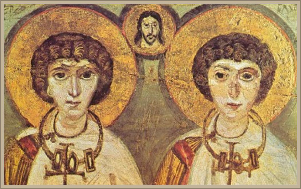 "‎""A Kiev art museum contains a curious icon from St. Catherine's Monastery on Mt. Sinai in Israel. It shows two robed Christian saints. Between them is a traditional Roman 'pronubus' (a best man), overseeing a wedding. The pronubus is Christ. The married couple are both men."""