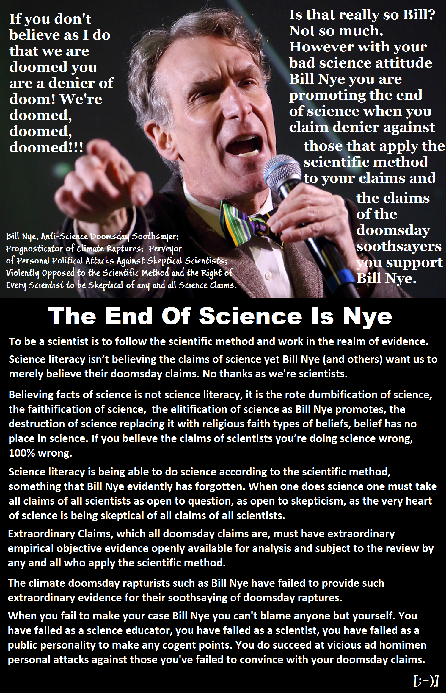 Bill Nye, Anti-Science Doomsday Soothsayer v001